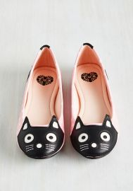 Up Your Alley Cat Flat in Pink Dots at ModCloth
