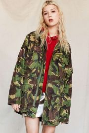 Urban Outfitters Vintage Woodland Camo Surplus Jacket at Urban Outfitters