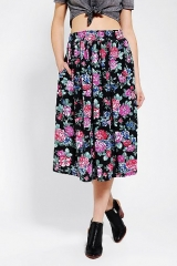 Urban Renewal Floral Jersey Knit Skirt at Urban Outfitters