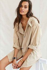 Urban Renewal Short Snow Parka in khaki at Urban Outfitters