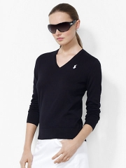 V Neck Cotton Sweater at Ralph Lauren