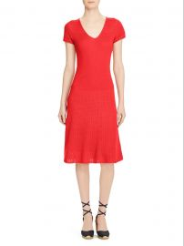 V-Neck Fit-and-Flare Dress at Lord & Taylor