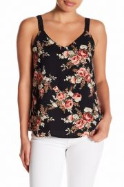 V-Neck Floral Print Cami by Bobeau at Nordstrom Rack