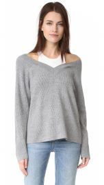 V Neck Sweater with Tank Trim at Shopbop