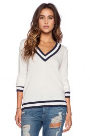 V-Neck Tipped Sweater by CC California at Revolve
