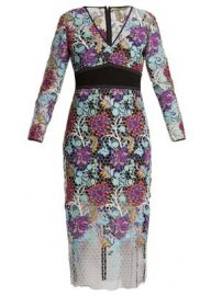 V-neck floral-lace dress at Matches