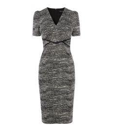 V-neck pencil dress at Karen Millen