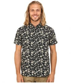 VISSLA Californica Short Sleeve Woven Black at Zappos