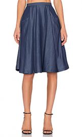VIVIAN CHAN Mia Skirt in Brewing Blue from Revolve com at Revolve