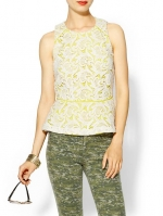 Valencia Lace Peplum Top by Greylin at Piperlime