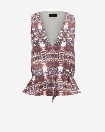 Valencia Print Drawstring Top at Intermix
