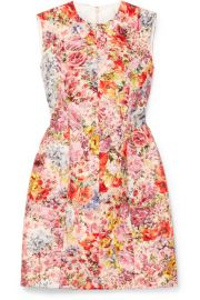 Valentino   Floral-print wool and silk-blend crepe mini dress at Net A Porter