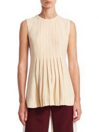 Valentino - Pleated Shell Top at Saks Fifth Avenue