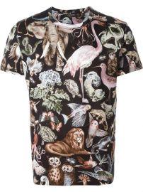 Valentino Animal Print T-shirt at Farfetch