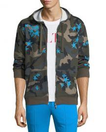 Valentino Camouflage-Print Zip-Front Hoodie   Neiman Marcus at Neiman Marcus