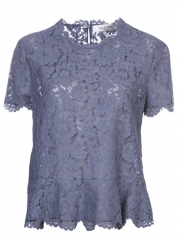Valentino Lace Peplum Top - at Farfetch