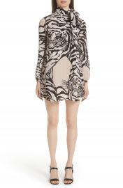 Valentino Leopard Print Silk Shift Dress at Nordstrom