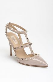 Valentino Rockstud T-Strap Pump in Poudre at Nordstrom