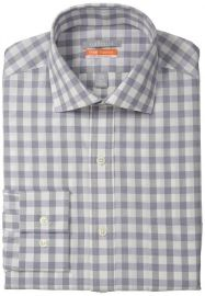 Van Heusen Menand39s Fitted Gingham in grey at Amazon