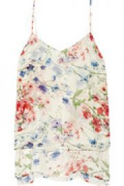 Vaneese floral-print silk-chiffon top at The Outnet