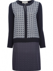Vanessa Bruno Ath Patterned Shift Dress - Bernard at Farfetch