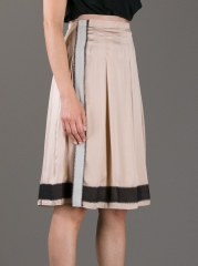 Vanessa Bruno Pleated Organza Trimmed Skirt at Farfetch