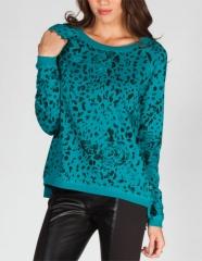 Vans leopard print sweatshirt at Tillys