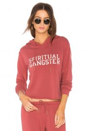 Varsity Crop Hoodie by Spiritual Gangster at Revolve