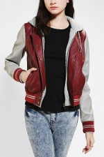 Varsity Lover bomber jacket in red by Obey at Urban Outfitters
