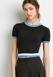 Varsity-Striped Crop Top  Forever 21 - 2000077159 at Forever 21