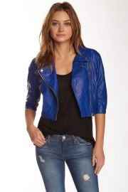 Vegan Leather Crop Moto Jacket at Nordstrom Rack