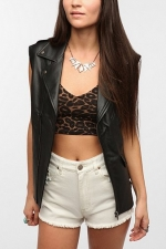 Vegan leather biker vest at Urban Outfitters