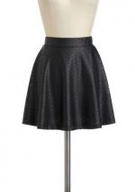 Vegan leather skirt at Modcloth