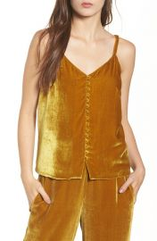 Velvet Button-down Cami by Madewell at Madewell