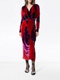Velvet Diamond Wrap Dress on Attico at Farfetch