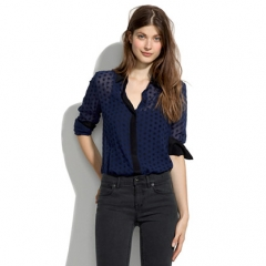 Velvet Dot Shirt at Madewell