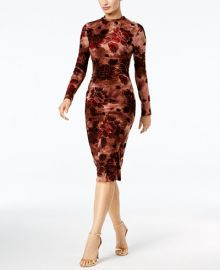 Velvet-Flocked Printed Midi Dress by Endless Rose at Macys