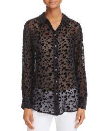 Velvet Heart Sheer Shirt at Bloomingdales
