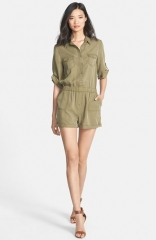 Velvet Heart and39Erinand39 Roll Sleeve Romper at Nordstrom