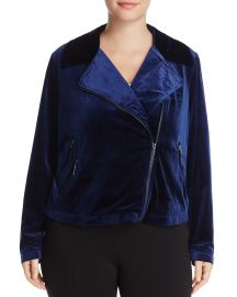 Velvet Moto Jacket at Bloomingdales