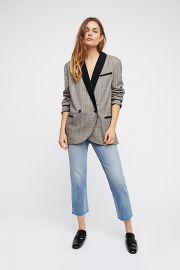 Velvet Trimmed Blazer by Free People at Free People
