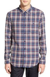 Velvet by Graham and Spencer Abel Trim Fit Long Sleeve Plaid Sport Shirt at Nordstrom