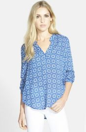 Velvet by Graham andamp Spencer Split Neck Challis Blouse at Nordstrom