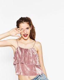 Velvet top at Zara