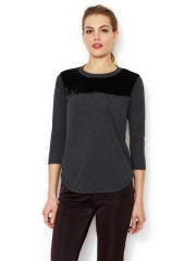 Velvet yoke top by Rebecca Taylor at Gilt