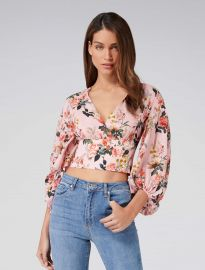 Vera Wrap Balloon Sleeve Crop Top at Forever New