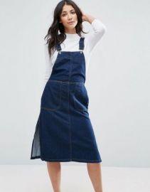 Vero Moda Denim Pinafore Dress at asos com at Asos