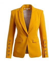 Veronica Beard Steele Cutaway Button-Cuff Tailored Jacket and at Neiman Marcus