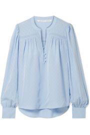 Veronica Beard - Abbie silk-satin jaquard blouse at Net A Porter