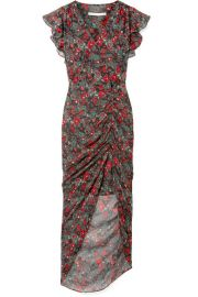 Veronica Beard   Cecile ruffled floral-print silk-chiffon maxi dress at Net A Porter